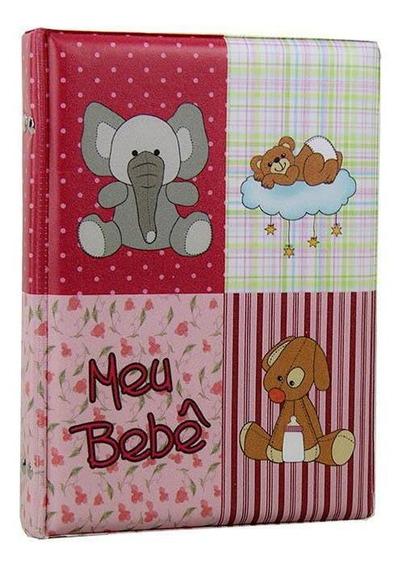 Álbum Fotográfico Diário Do Bebê 40 Fotos 15x21 Rosa