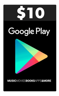 Google Play 10 $ Gift Card Tarjeta Recarga Usa
