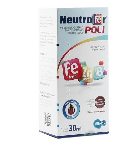 Neutrofer Poli Susp Oral Inf Chocolate E Brigadeiro 30ml