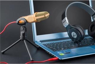 Microfono Youtube Skype Condensador Profesional Con Tripode