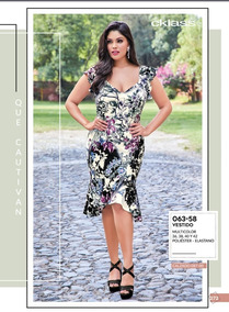 79d172dbdc Vestido Dama Talla Extra Multicolor Cklass 063-58 Pvbs-2019