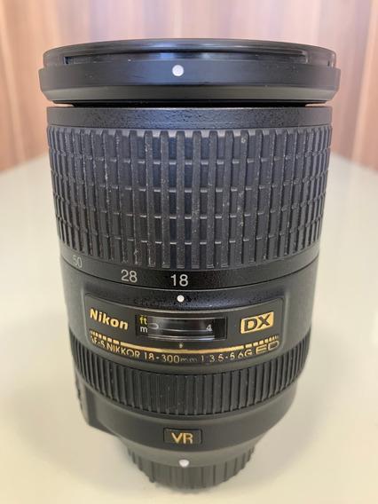 Lente Profissional Af-s Nikkor Dx 18-300mm F/3.5-5.6g Ed Vr