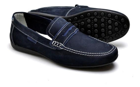 Sapato Confortavel Sapatilha Oxford Mocassim Couro Legitimo