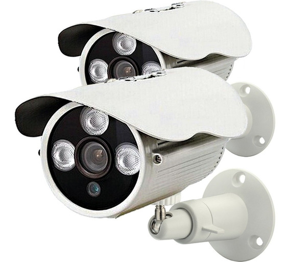 Kit 2 Câmera Segurança Analógica Digital Cftv Infravermelho Ircut 30 Metros 1200 Linhas Externa Ip66 A Prova D