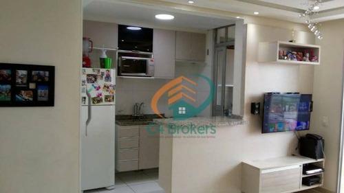 Imagem 1 de 20 de Apartamento À Venda, 60 M² Por R$ 360.000,00 - Picanco - Guarulhos/sp - Ap1266
