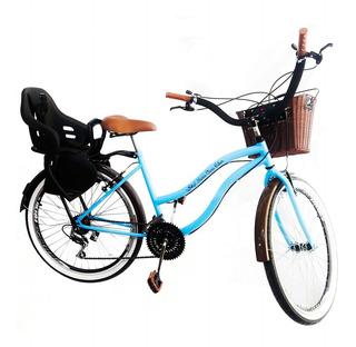 Bicicleta Aro 26 Retrô Com Cadeirinha Infantil Tras