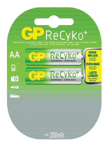 Pilha Recyko Aa Recarregável 2000mah C/ 2 Gp Batteries
