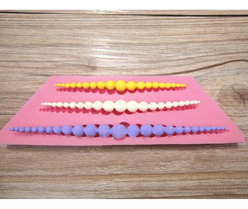 Imagen 1 de 7 de Collar De Perlas 3d Silicona Molde Para Decoración De Pastel