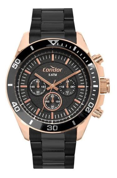 Relógio Condor Masculino Civic Prata Covd54bk/5p