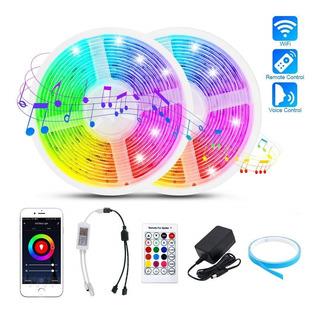 5m Tira Luces Led Dormitorio Wifi Bluetooth Control Música