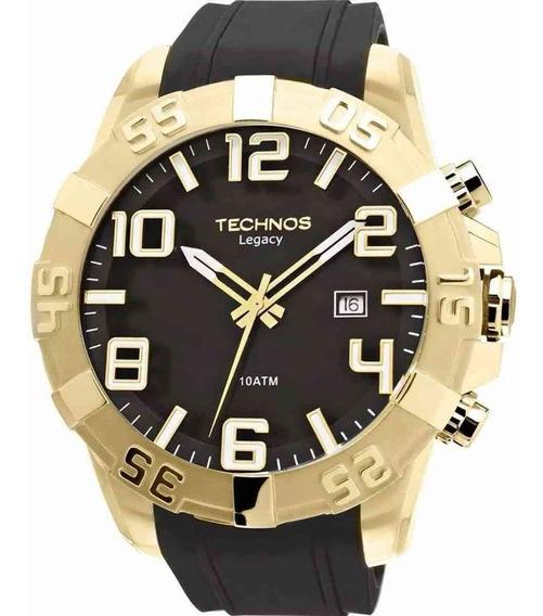 Relógio Technos Masculino Dourado Pulse Borracha 2315aaha/8p
