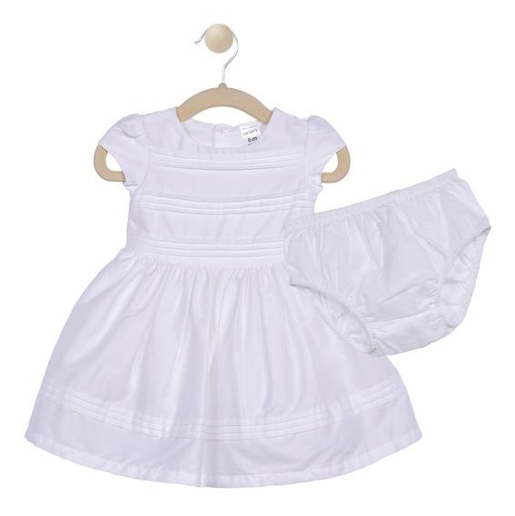 Set 2 Pzas Vestido Y Calzón Carters Blanco Niña 16530010