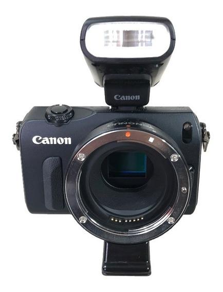 Camera Canon Eos M Seminova Oferta Lojista Com Adaptador Garantia