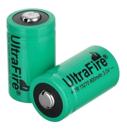 Bateria Pilha Cr2 Recarregável 800mah 3v C/ 2 Unid. Ultrafir