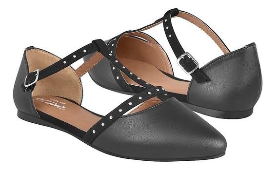 Zapatos Capa De Ozono Casuales De Mujer 342997-1 Negro