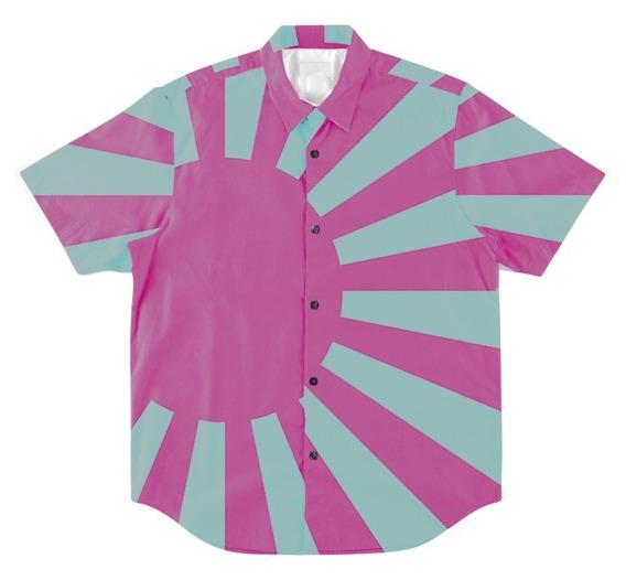 Camisa Botões Acid Trip Vibe Psicodélica Japonesa Vaporwave