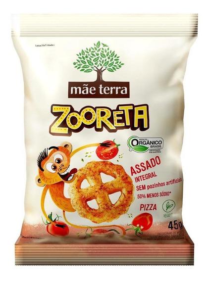 Salgadinho Mãe Terra Orgânico E Integral Zooreta Pizza 45g