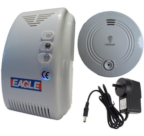 Alarma Detector Humo+ Detector De Gas C/ Fuente 12v Pilar