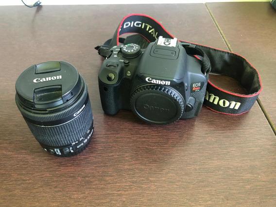 Câmera Canon Rebel T5i + Lente 18-55 + Case + Cartões De Mem