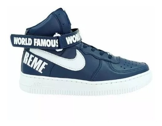 Tênis Air Force Word Famous Supreme Bota Cano Alto