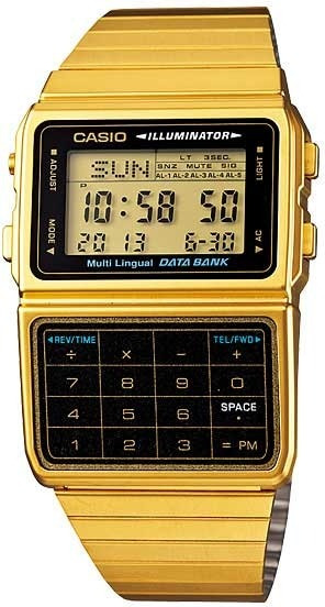 Relógio Casio Masculino Data Bank Dbc-611g-1df *calculadora