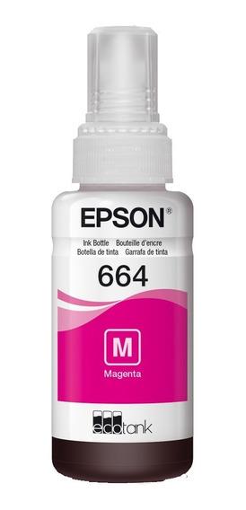 Botella Tinta Epson T664 Original Magenta 70 Ml T664320