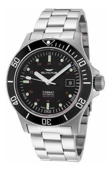 Relógio Glycine Combat Sub Gl0185 Completo Na Caixa Novo