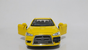 Miniatura Lancer Evolution X Amarelo Kinsmart 1/36