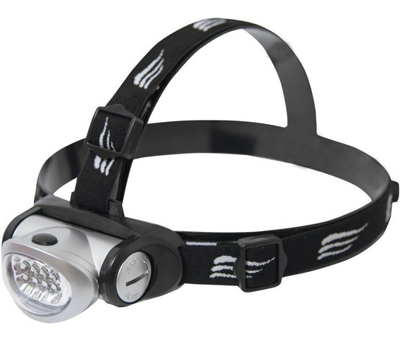 Lanterna Para Cabeça Ou Capacete Turbo 8 Led Forte Nautika