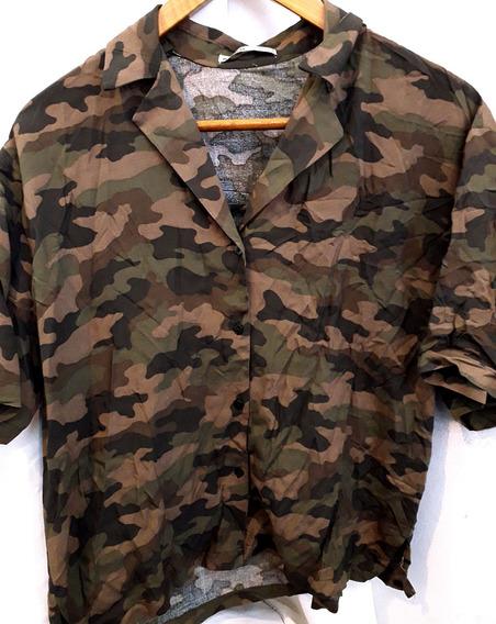 Camisa Camuflada. Importada Pull&bear! Nueva! (n007)