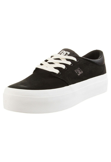 Zapatillas Dc Shoes Mod Trase Plataforma Se Negro Crema