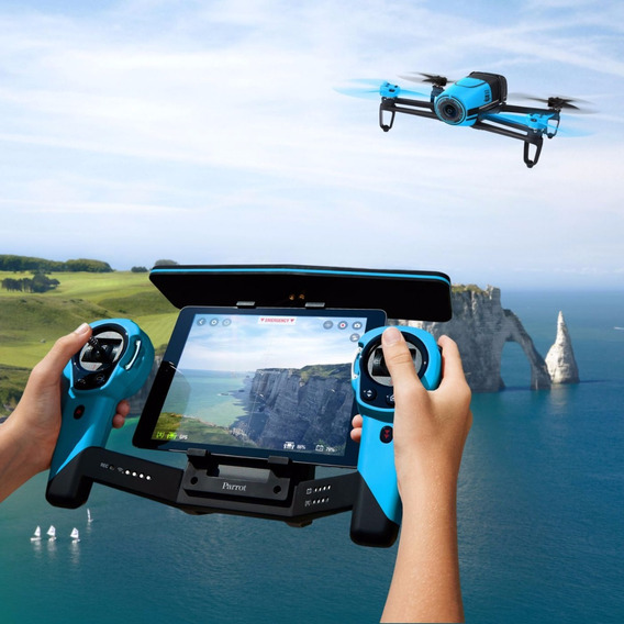 Drone Parrot Bebop Drone And Skycontroller Bundle, Blue (pta