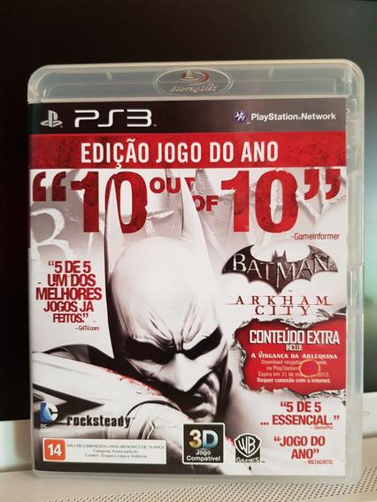 Batman Arkham City - Jogo Ps3 - Midia Física / Português