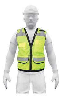 Chaleco Seguridad Reforzado Verde Extra Grande 13484