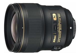 Nikon Af-s Nikkor 28mm F/1.4e Ed F/1.416objetivo De