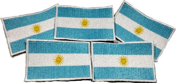 Parche Bandera Argentina Bordada P/ Coser Calidad Pack X 5