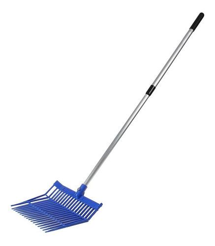 Garfo De Plástico Para Limpeza De Baia M Reis Azul Com Cabo