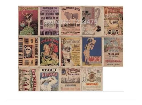 Imagen 1 de 3 de Juego De 14 Postales Anuncios Antiguos
