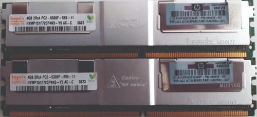 Imagem 1 de 1 de Memória Ddr2 8gb (2x4gb Pc2-5300f-555-11) Dell Poweredge