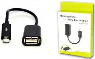 Cable Adaptador Otg Micro Usb A Usb Hembra Celular Tablet
