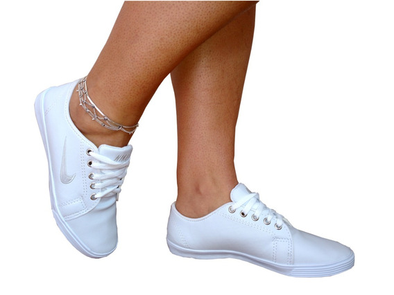 Tênis Feminino Sapatenis + Calça Jeans Cint Alta Hot Pants