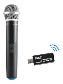 Pyle Usb Mic50 Micrófono Inalambrico Uhf Profesional Karaoke