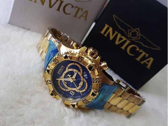 Relogio Invict Excursion - Cronografo - Datador - Dourado