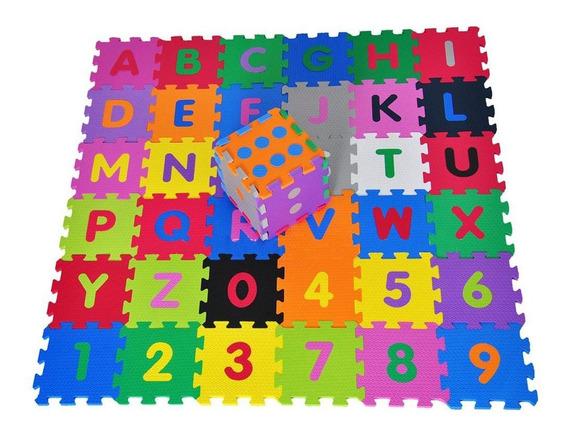 Tatame Infantil Alfabeto Números Com Dado 42 Peças Colorido