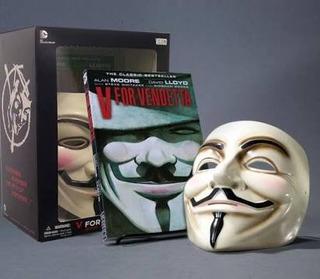 Deluxe Set V De Venganza Vendetta Máscara Y Novela Gráfica