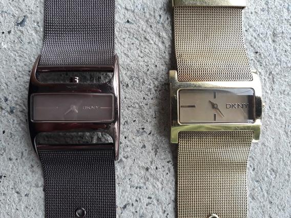 Relógio Feminino Dkny Ny4823 Dourado Ou Café / Usado