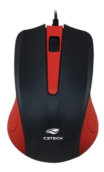 Mouse Usb Ms-20rd Vermelho C3tech
