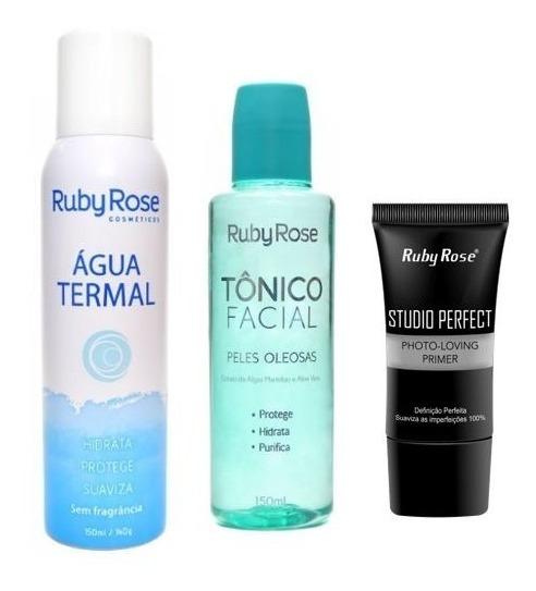 Kit C/ Agua Termal Tônico Facial Primer Ruby Rose