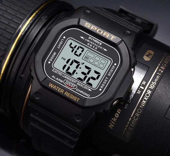 Relógio Synoke 9613 Quadrado Digital Esportivo Masculino Nvo