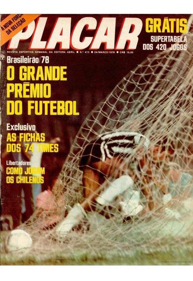 Revista Digitalizada Placar Guia Brasileiro 1978 + 2 Álbuns